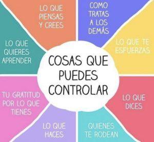 Lo que puedes controlar